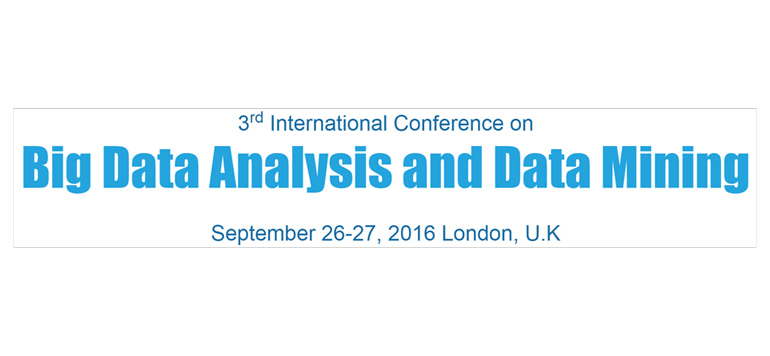 Big data analysis and data mining confernce 2016